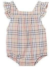 Burberry Baby Girl's Check Apron Bodysuit