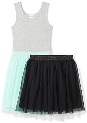 Spotted Zebra Big Girls' Tutu Tank Dress and Skirt Set