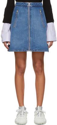Kenzo Blue Zip Miniskirt