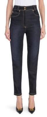Versace High-Waist Medusa Button Jeans
