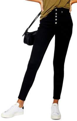 Topshop Jamie High Waist Button Fly Jeans