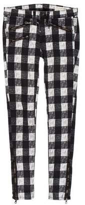 Rag & Bone Gingham Skinny Pants