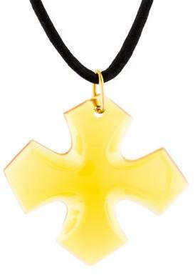 Baccarat Crystal Cross Pendant Necklace