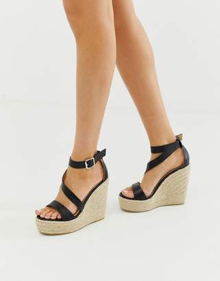 Raid RAID Zain black espadrille wedge sandals