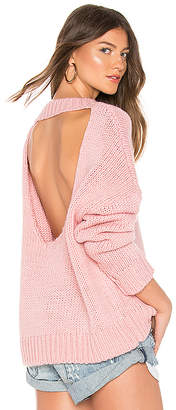 One Teaspoon Pamela Open Back Sweater