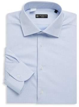 Corneliani Printed Cotton Dress Shirt