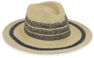 Hat Attack Women's Two-Tone Straw Fedora