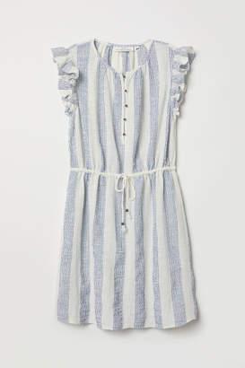H&M Creped Cotton Dress - Blue