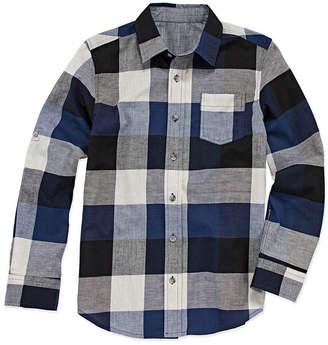 Arizona Long Sleeve Button-Front Shirt Boys 4-20