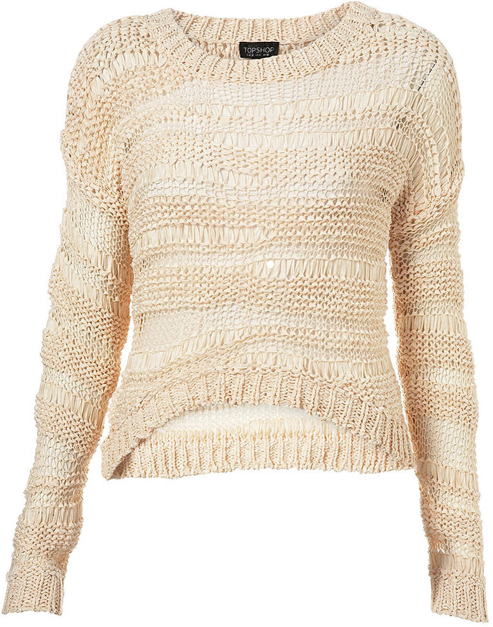 Knitted Tape Crop Jumper
