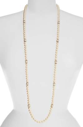 Marchesa Long Imitation Pearl Strand Necklace