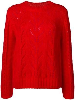 Semi-Couture Semicouture crochet knit jumper