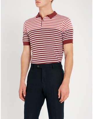 John Smedley Eddris striped cotton polo shirt
