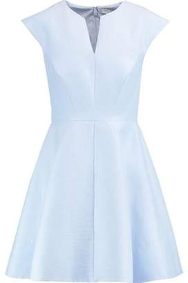 Halston Flared Cotton And Silk-Blend Mini Dress