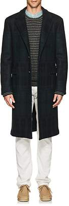 Massimo Alba Men's Plaid Wool Melton Overcoat
