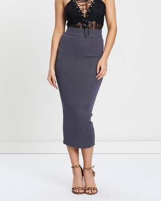 Missguided Knitted Body-Con Midi Skirt