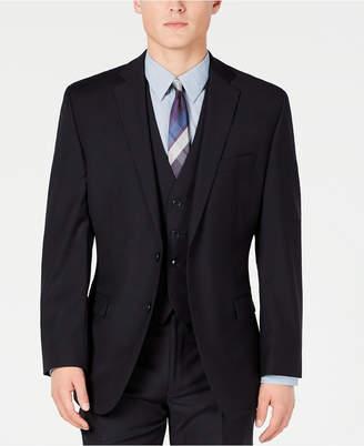 Calvin Klein Midnight Blue Stripe Modern-Fit Suit Jacket