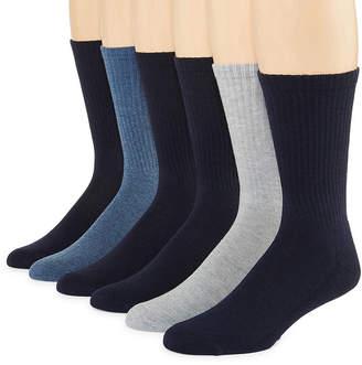 Hanes 6 Pair Comfortblend Casual Crew Socks
