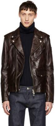Belstaff Burgundy Leather Sidmouth Jacket