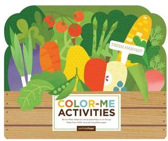 Petit Collage Fresh Harvest Color-Me Activities Book