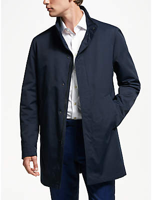 Bugatti Water Repellent Funnel Neck Coat, Navy