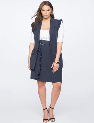 A-Line Skirt with Ruffle Belt