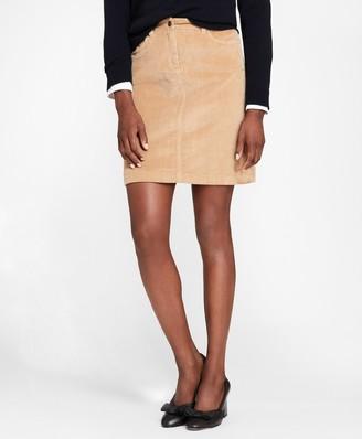 Brooks Brothers Stretch-Cotton Corduroy Skirt