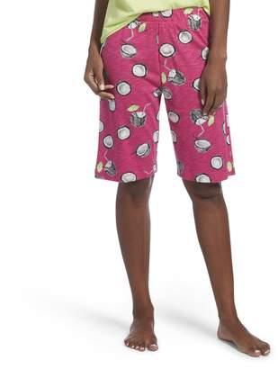 Hue Women's Printed Knit Bermuda Pajama Sleep Short