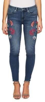 CeCe Summer Fiesta Floral Skinny Jeans