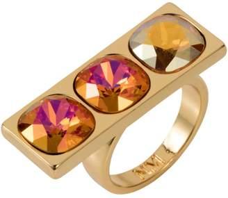 Nadia Minkoff Three Stone Ring Tangerine