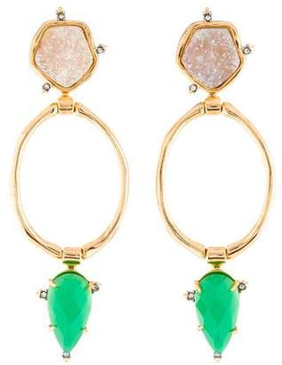 Alexis Bittar Druzy Stone Link Earrings
