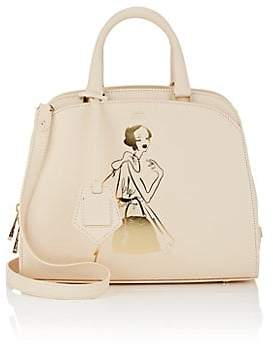 Aspinal of London GILES X Women's Hepburn Mini Leather Satchel - Ivory