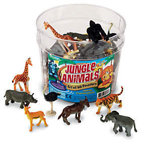 Learning Resources Set of 60 Jungle Animal Counters by Learning R