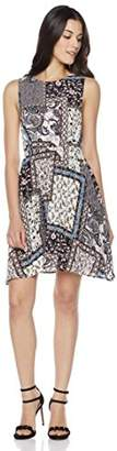 Peace Love Maxi Women's Back Cross Geometric Print Dress