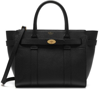 Mulberry Small Zipped Bayswater Black Small Classic Grain