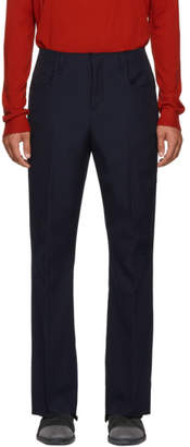 Acne Studios Blue Twill Boot Cut Trousers