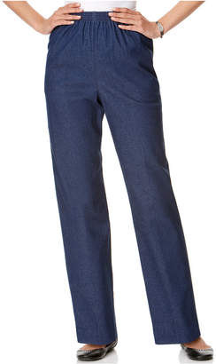 Alfred Dunner Petite Pull-On Denim Pants, Black Wash