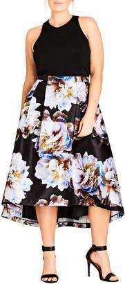City Chic Moonlite High/low Midi Dress