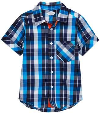 Frenchie Mini Couture Blue/Black Plaid Shirt (Baby, Toddler, Little Boys, & Big Boys)