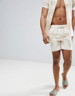 Bellfield Swim Short With Leaf Print