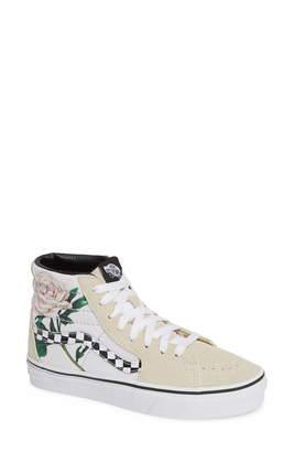 3d48f527db Vans Sk8-Hi Checker Floral High Top Sneaker