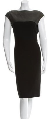 Rachel Roy Leather-Accented Sheath Dress $85 thestylecure.com