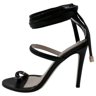 Jason Wu Black Leather Sandals