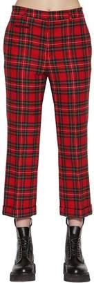 R 13 Straight Wool Plaid Pants