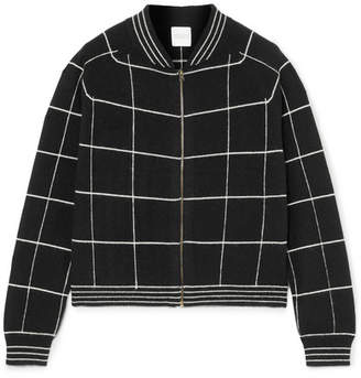 Madeleine Thompson Jedha Checked Cashmere Cardigan - Black