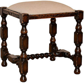 One Kings Lane Vintage 19th-C. Carved English Stool - Black Sheep Antiques