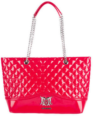 Love Moschino Love Moschino Quilted Patent Tote