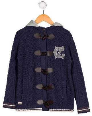 Catimini Boys' Hooded Cable Knit Cardigan