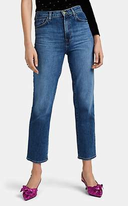 J Brand Women's Jules High-Rise Crop Straight Jeans - Blue