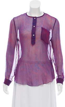 Etoile Isabel Marant Silk Semi-Sheer Blouse